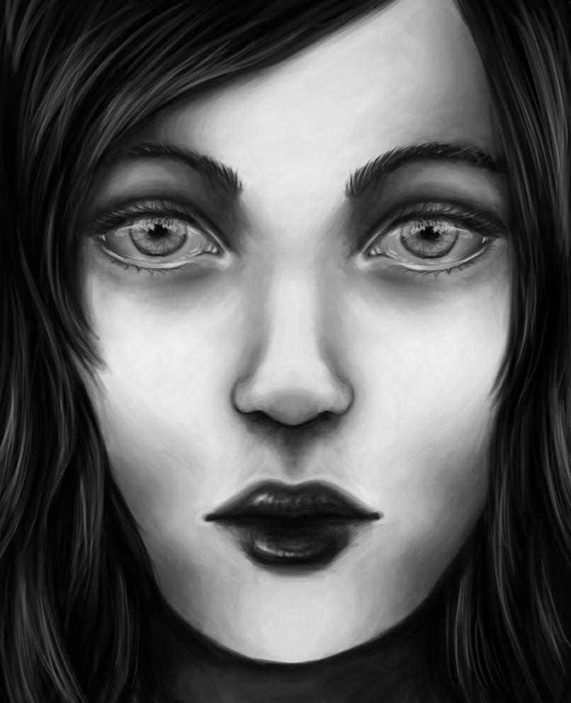 Monochrome Face by KnavesAndKnots
