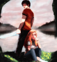 Percy and Annabeth-1 by offtosleep