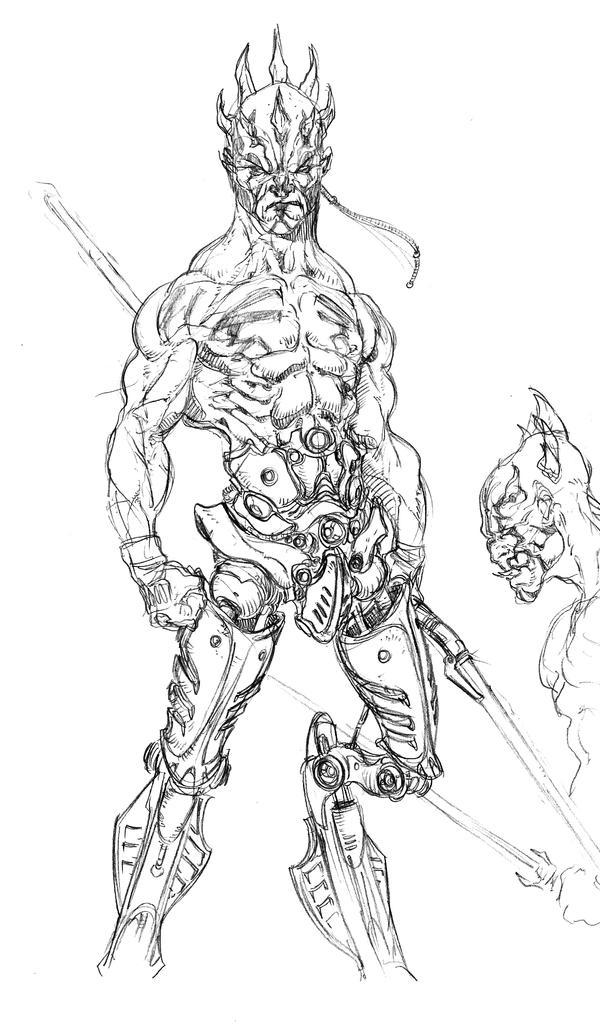 Darth Maul cyborg by tdm-studios