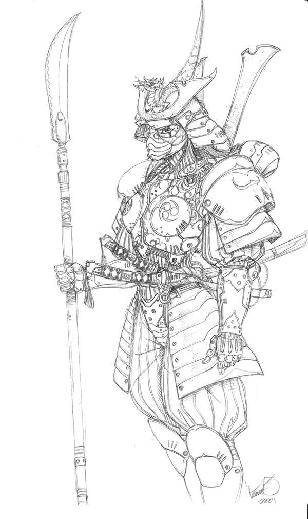 Samurai mech suit by tdm-studios