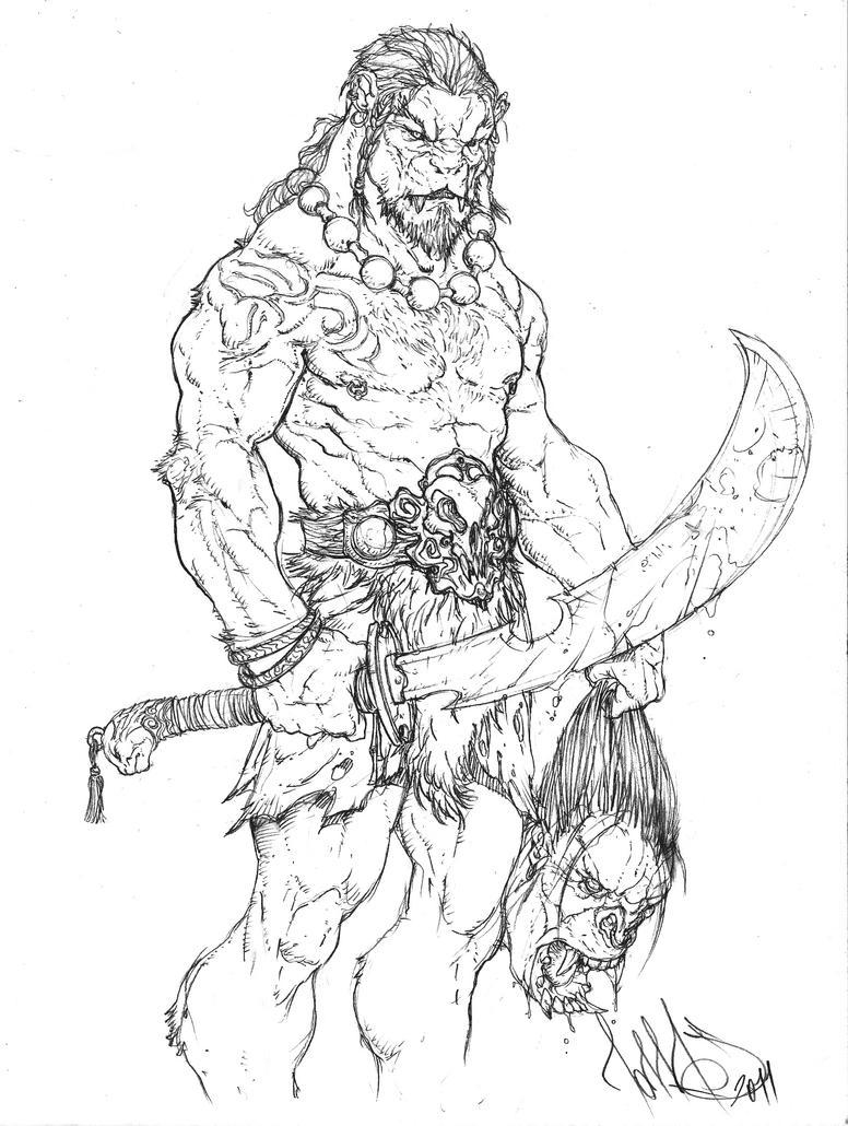 Female Were Lion Warrior