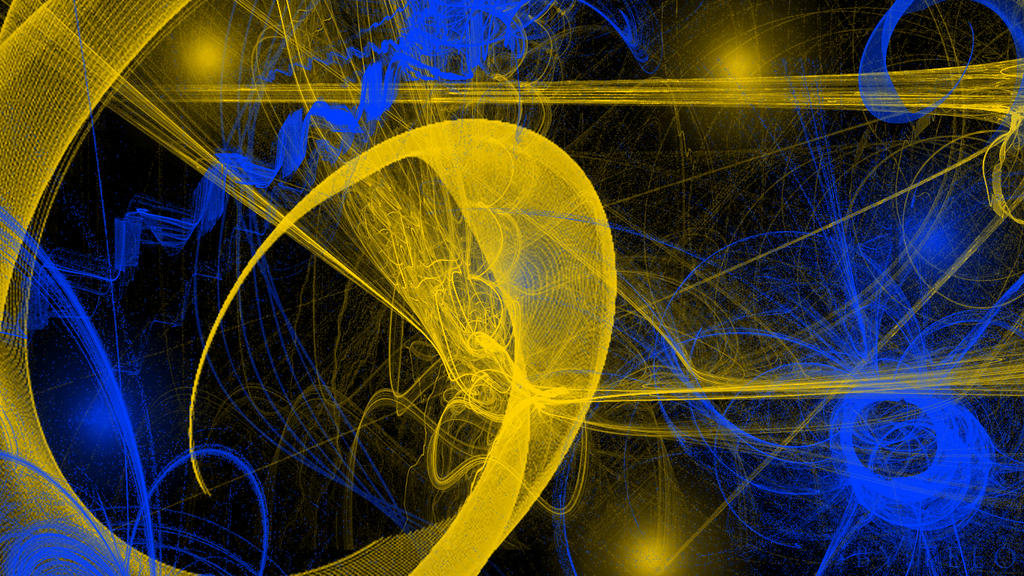 yellow to blue abstract - photo #10