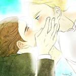 [Steve/Tony] Tony Can't Endure to Kiss to Cap