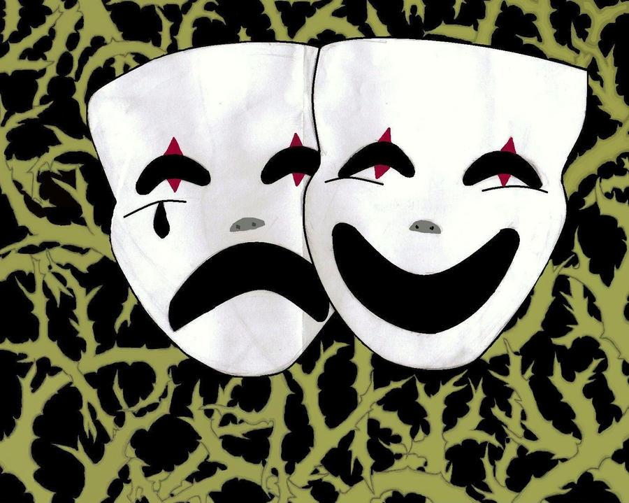 Drama Masks by felinefrenzy on DeviantArt