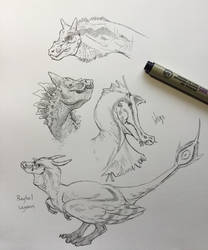 Dragon Doodles 2 by 9IndigoArt9