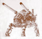Steampunk Mech III