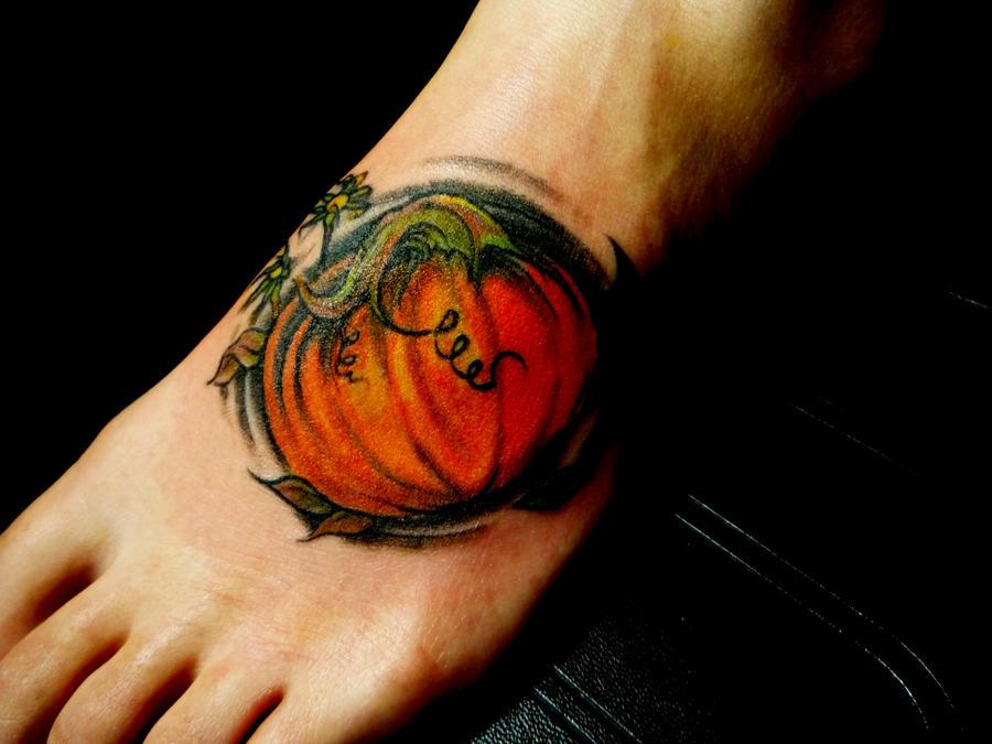 Grandpa 39 s pumpkin by bostontattoo on deviantart for Tattoos of pumpkins