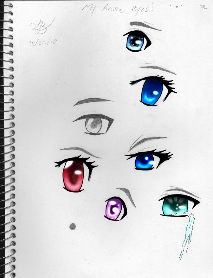 Anime Eyes Colored by SuckyArtrist00 on DeviantArt