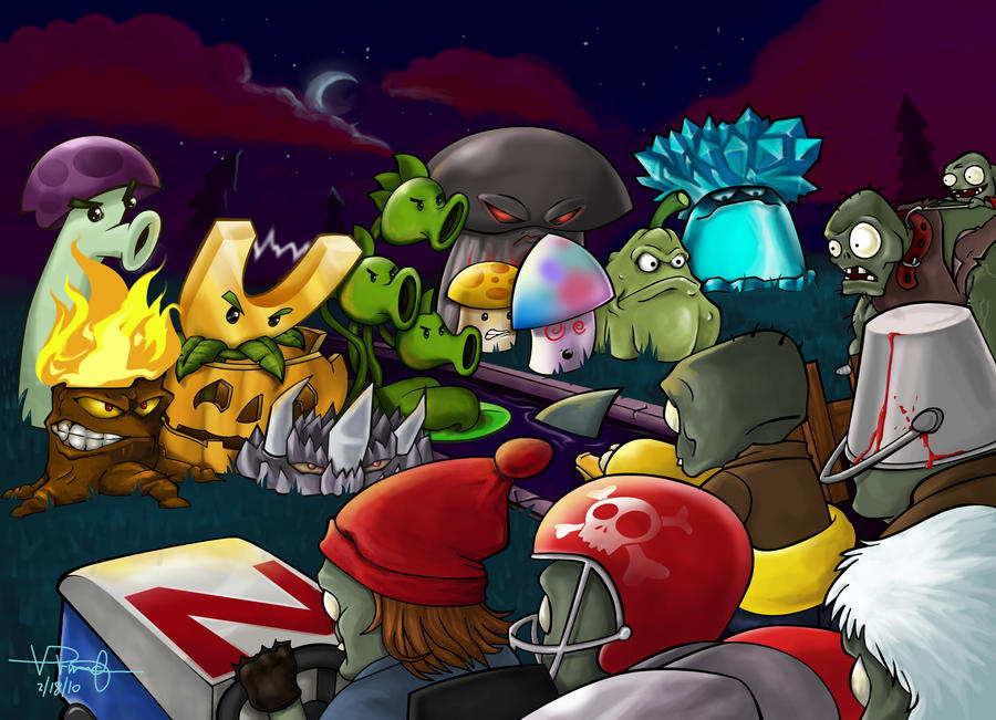 Zombies vs plants by vp021 on deviantart zombies vs plants by vp021 voltagebd Image collections