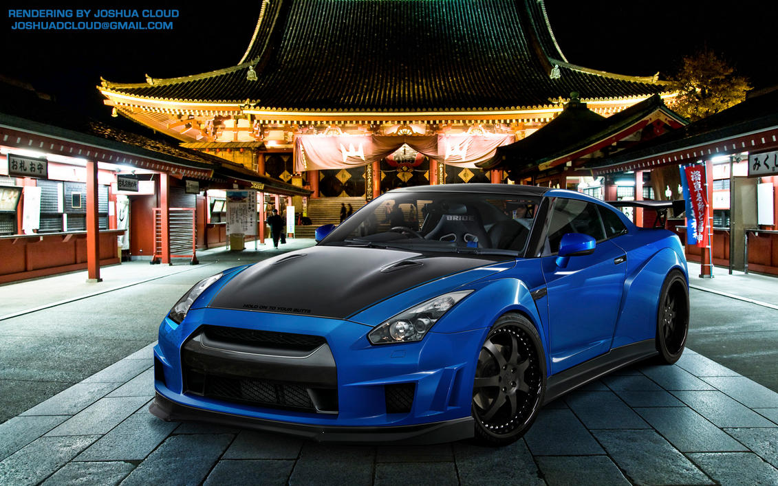 widebody nissan gtr by gurnade on deviantart. Black Bedroom Furniture Sets. Home Design Ideas