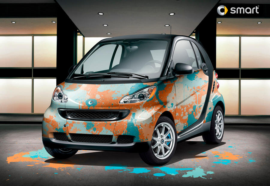 Smart Fortwo: Splatter ART by Gurnade