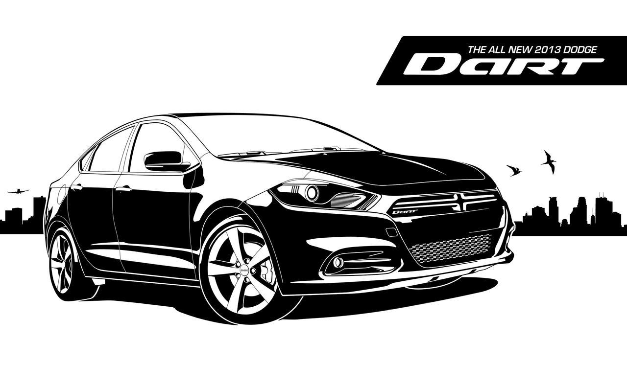 Dodge Dart Vector'ed by Gurnade