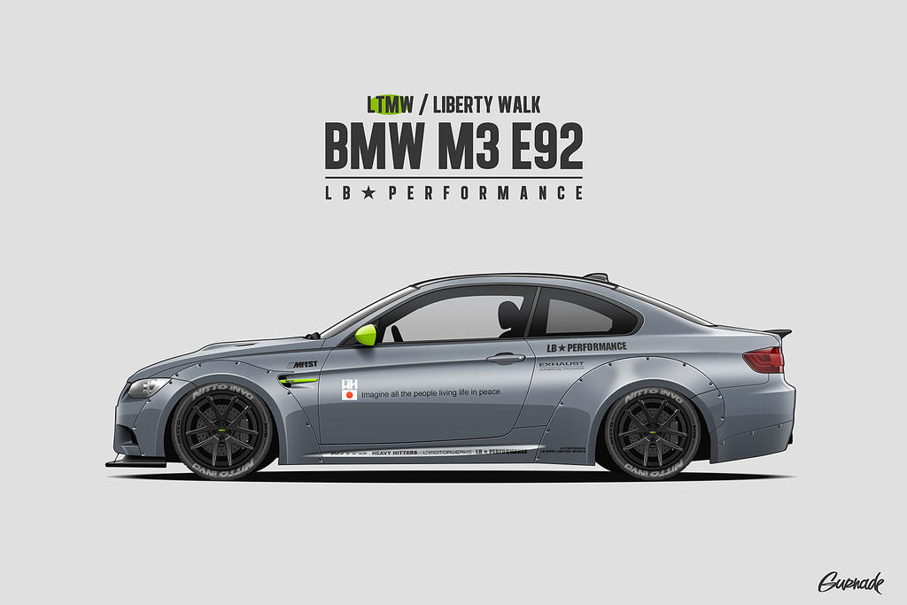 Liberty Walk Ltmw M3 E92 By Gurnade On Deviantart