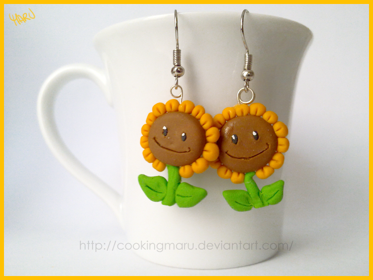 Sunflowers Earrings by CookingMaru
