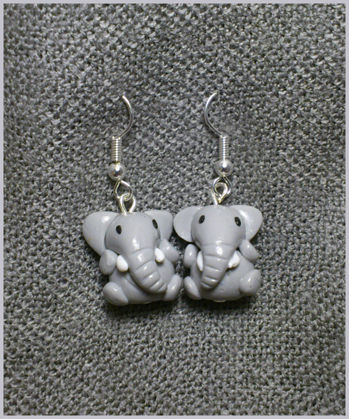 Little Elephants Earrings by CookingMaru