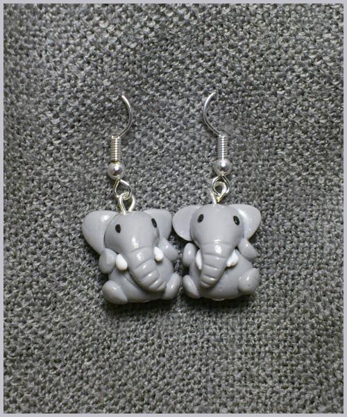 Little Elephants Earrings by CookingMaru