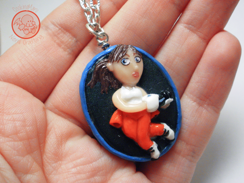 Chell Necklace from Portal by CookingMaru