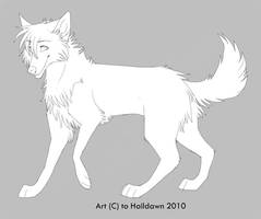 Free Wolf Lineart by HailDawn