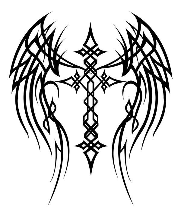 Cross With Wings Tattoo By MercedesJK On DeviantArt