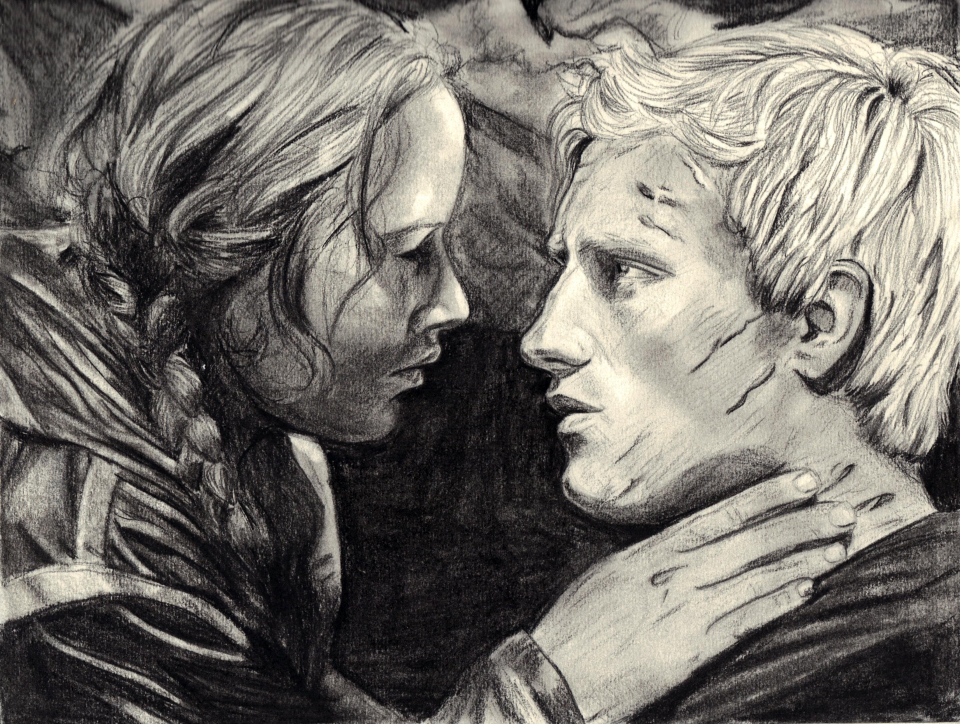 Katniss and Peeta - The Hunger Games by bwpianogirl on ...  Katniss And Peeta Fan Art Love