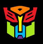 Rainbow Autobot Symbol