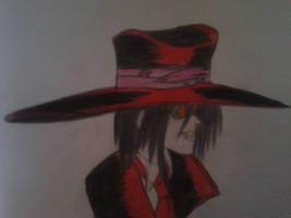 Alucard in profile by Integral666