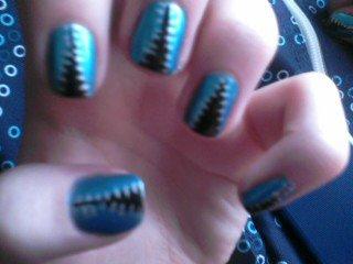 Edgy Zipper Inspired Nail Art by TheNailFile