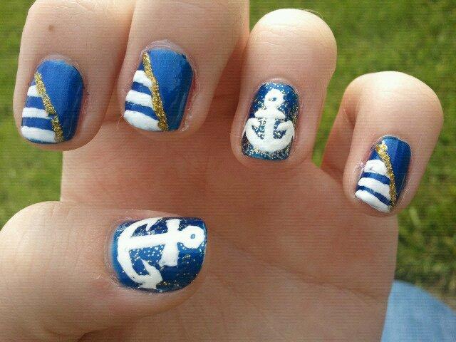 Nautical Nail Art Nautical Nail Art by