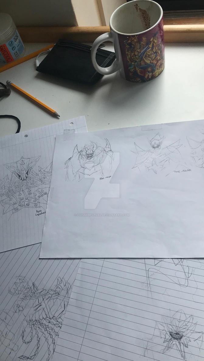 gigas , concept sketches by luismibruzual