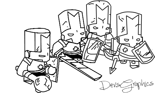 Castle Crashers Outline by DevsGraphics