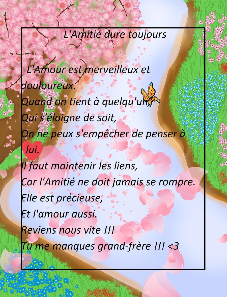 Poeme Pour Mon Grand Frere By Kahory13 On Deviantart