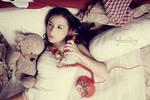 on the phone by peachjuice