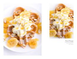 banana waffles by peachjuice