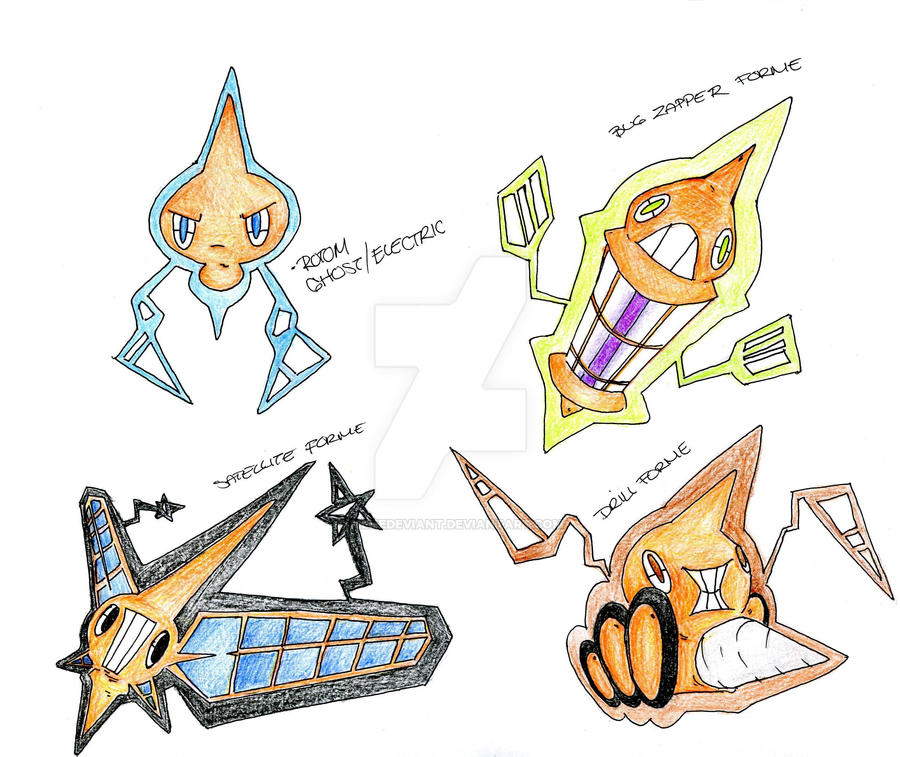 Rotom Favourites By Enigma3030 On Deviantart