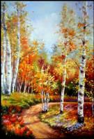 Golden Birches. by pikassogina