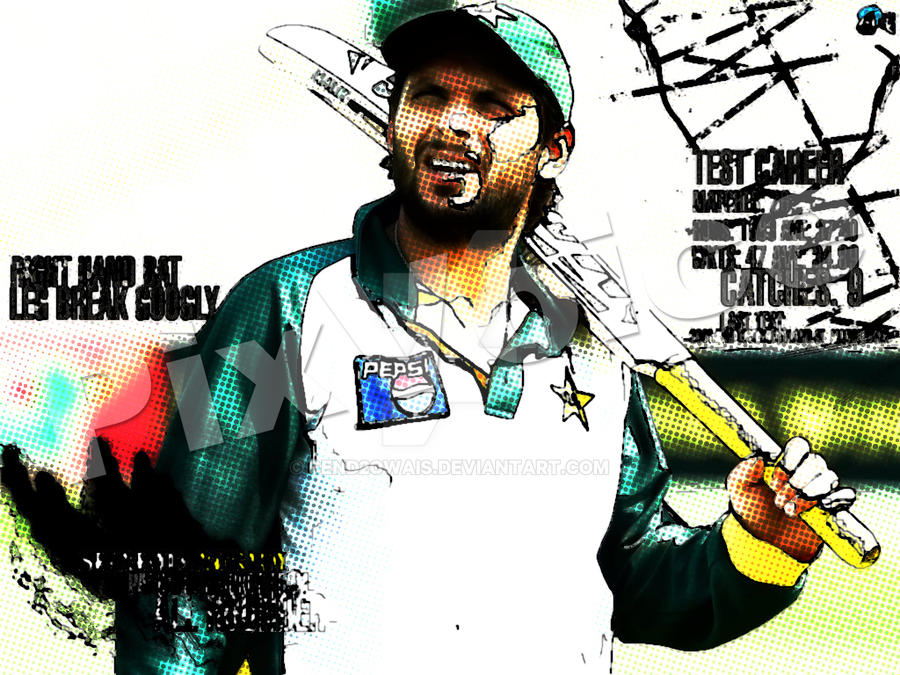 Shahid Afridi-Comic Style by send2owais