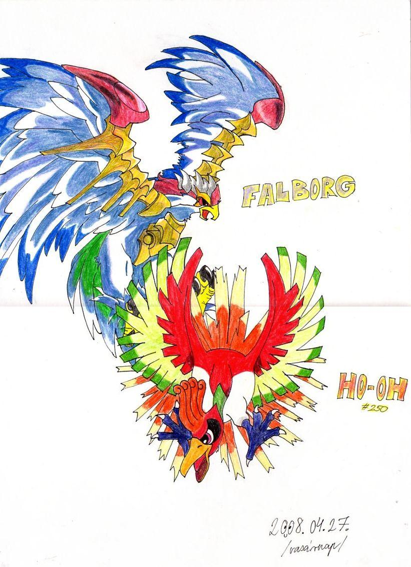 Falborg and Ho-oh by KiokuTsu on DeviantArt