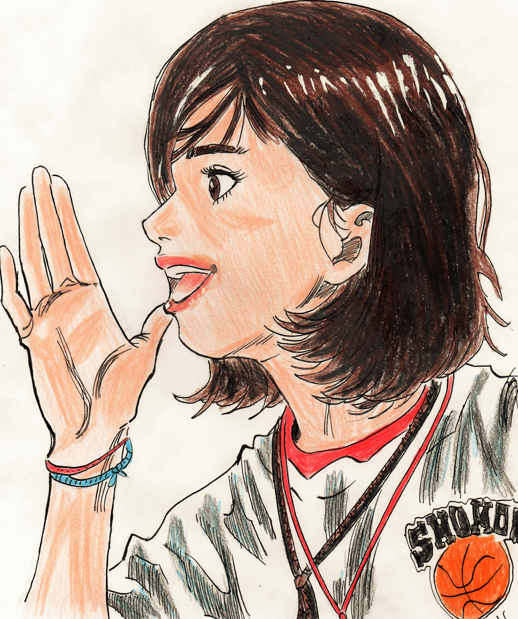 Slam Dunk Haruko Akagi Manga Colored By Gustavo4l On
