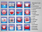 Red and Blue Icon Set