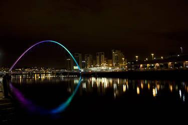 Night Lights Over Tyne by SeanJC76