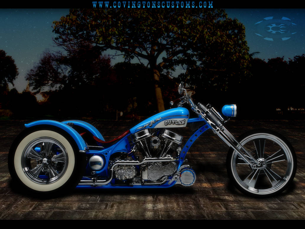 Outlaw Custom Trike Motorcycle by random667