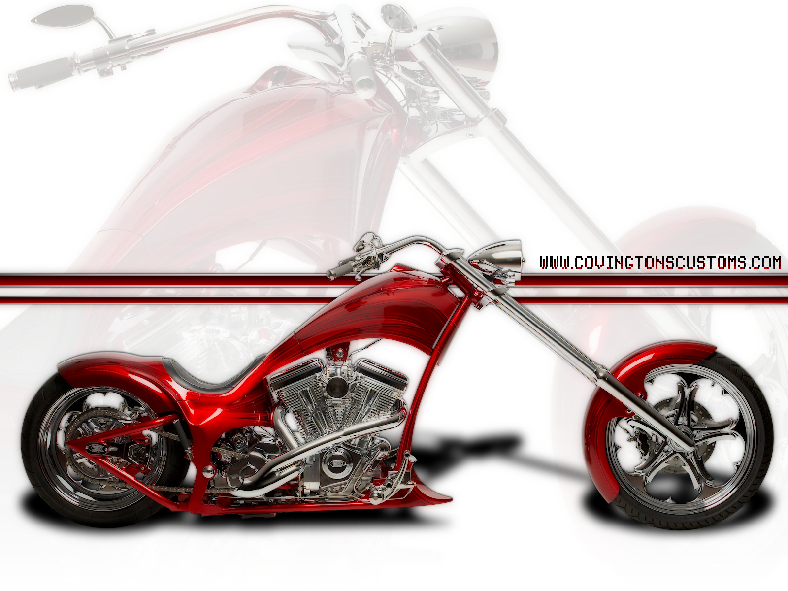red chopper custom motorcycle by random667 red chopper custom motorcycle by random667