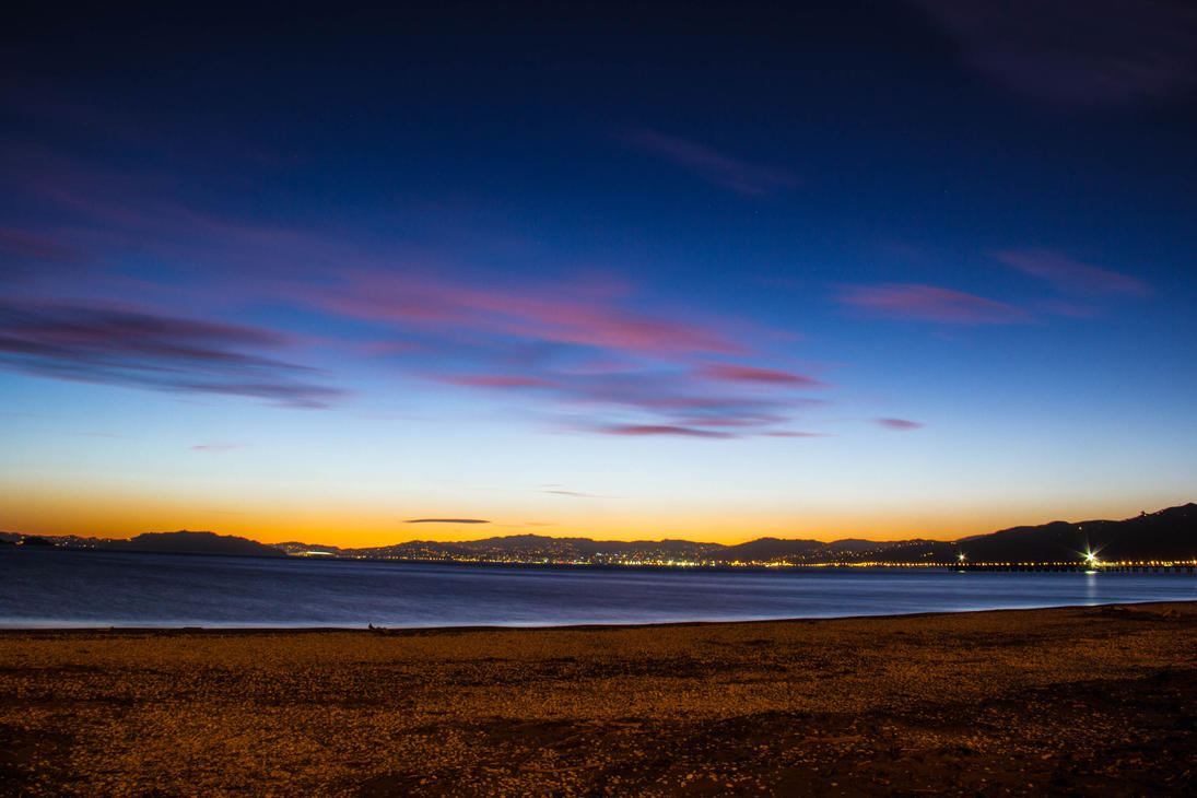 Wellington Harbour from Petone by UberPickleMonkey