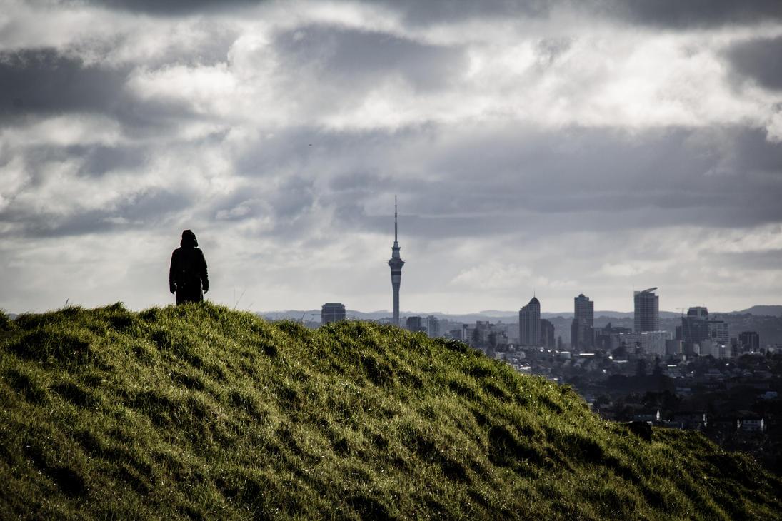 Mt Wellington summit overlooking Auckland CBD by UberPickleMonkey