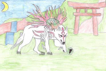 amaterasu recoloured by psychowolf11