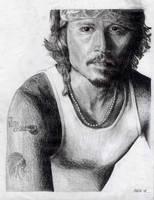 Johnny Depp by Aleid