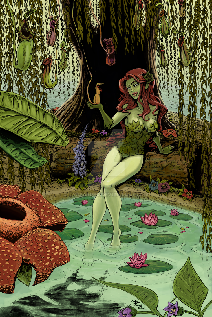 Poison Ivy Pinup - Final by lyssaspex