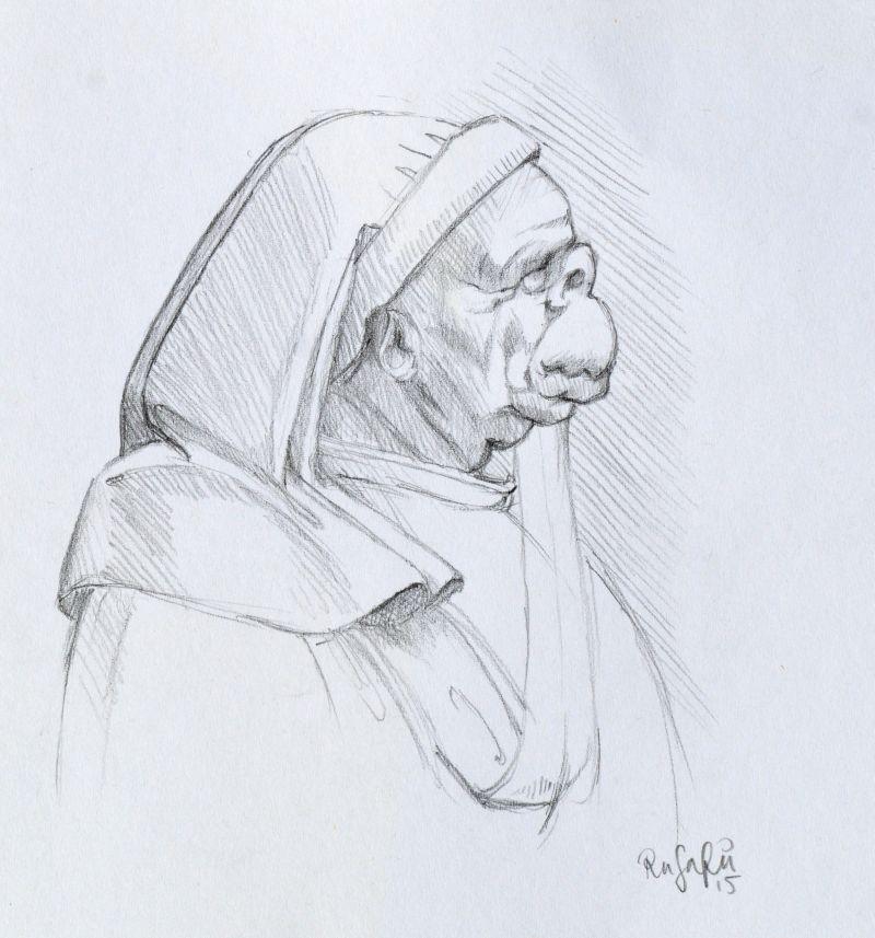 Da Vinci study I: 'Four caricatures' by Runalicious