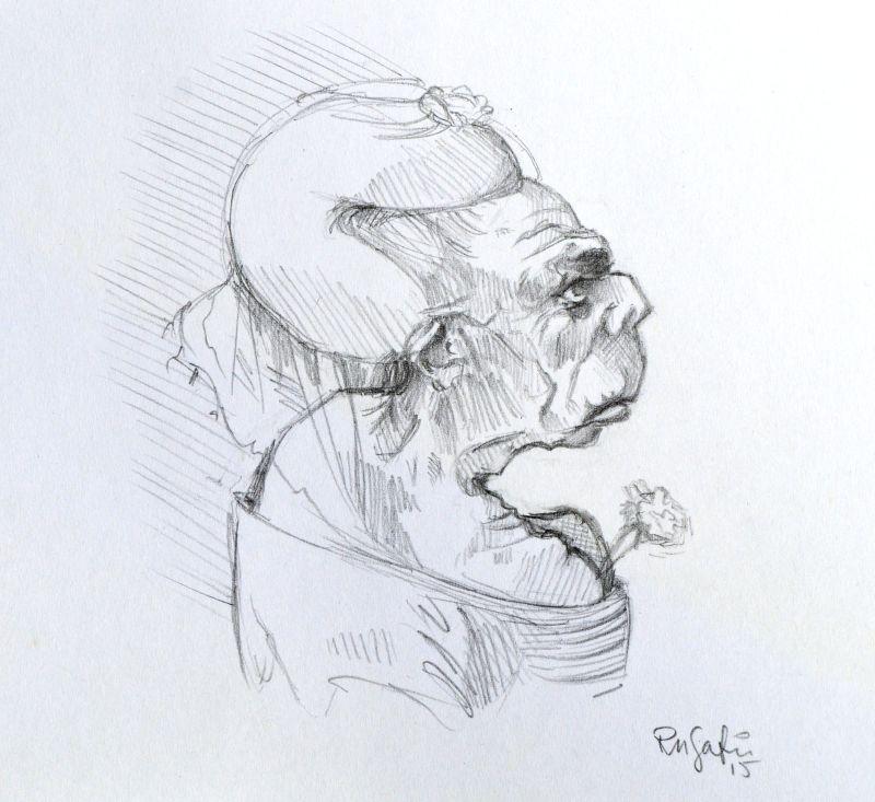 Da Vinci study II, 'Four caricatures' by Runalicious