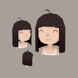 Girl head by AnnekaTran